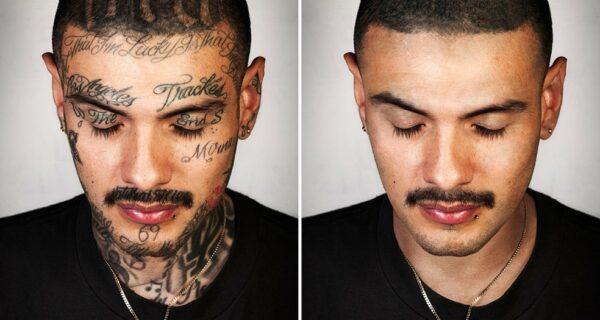 Ретушированные татуировки гангстеров: фотопроект Стива Бартона