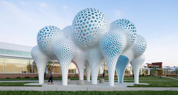 Столпы мечтаний: воздушная шарообразная скульптура из 3564‑х частей