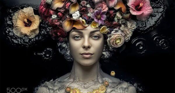 Сад красоты: концептуальные цветочные портреты Евгения Колесника