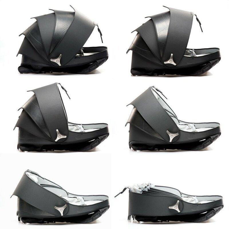 Дизайнеры из Колумбии создали рюкзак-панцирь из старых покрышек