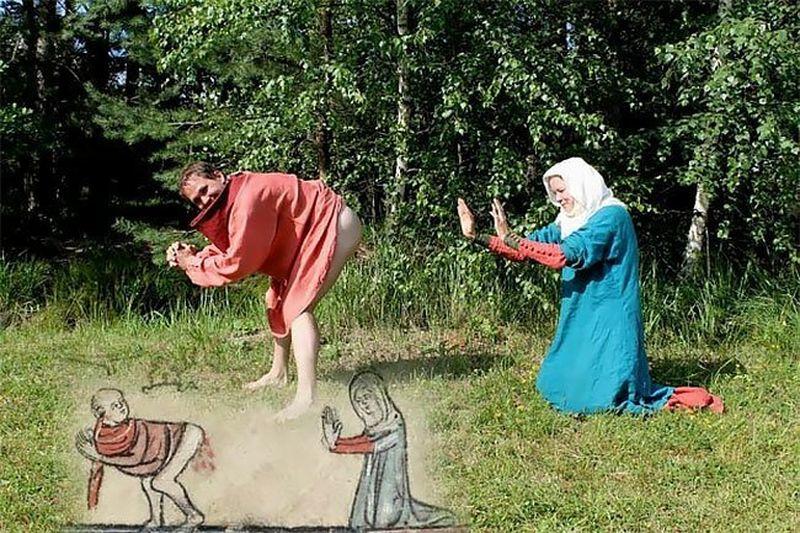 Странные и смешные реконструкции средневековых рисунков фото