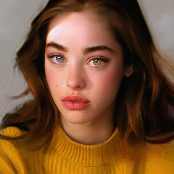 гиперреалистичные цифровые портреты