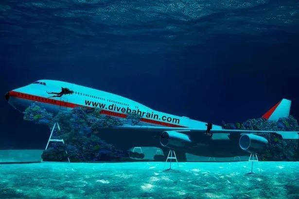 Под крылом самолета о чем-то поет зеленое море: в Бахрейне открыли подводный парк внутри «Боинга»