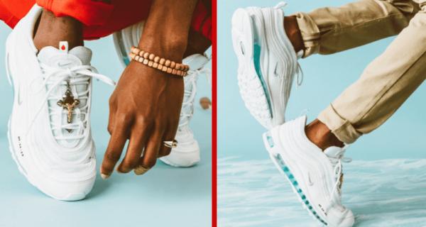 «Гуляй по воде»: кроссовки-коллаб с Иисусом Христом с подошвой, заполненной водой из Иордана