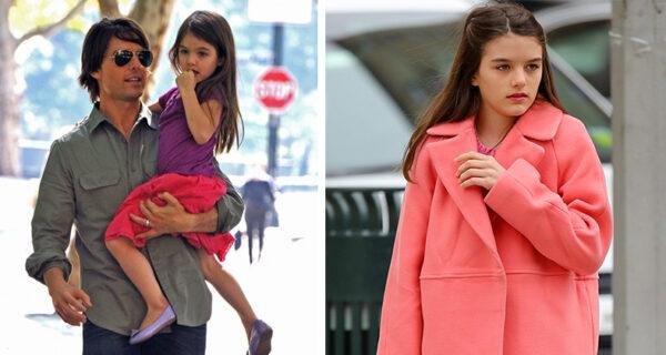 Дочь Тома Круза и Кэти Холмс превращается в юную красавицу