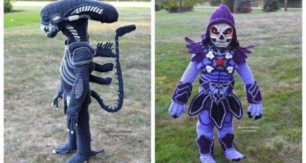 Талант на крючке: мать вяжет детям удивительные наряды на Хэллоуин