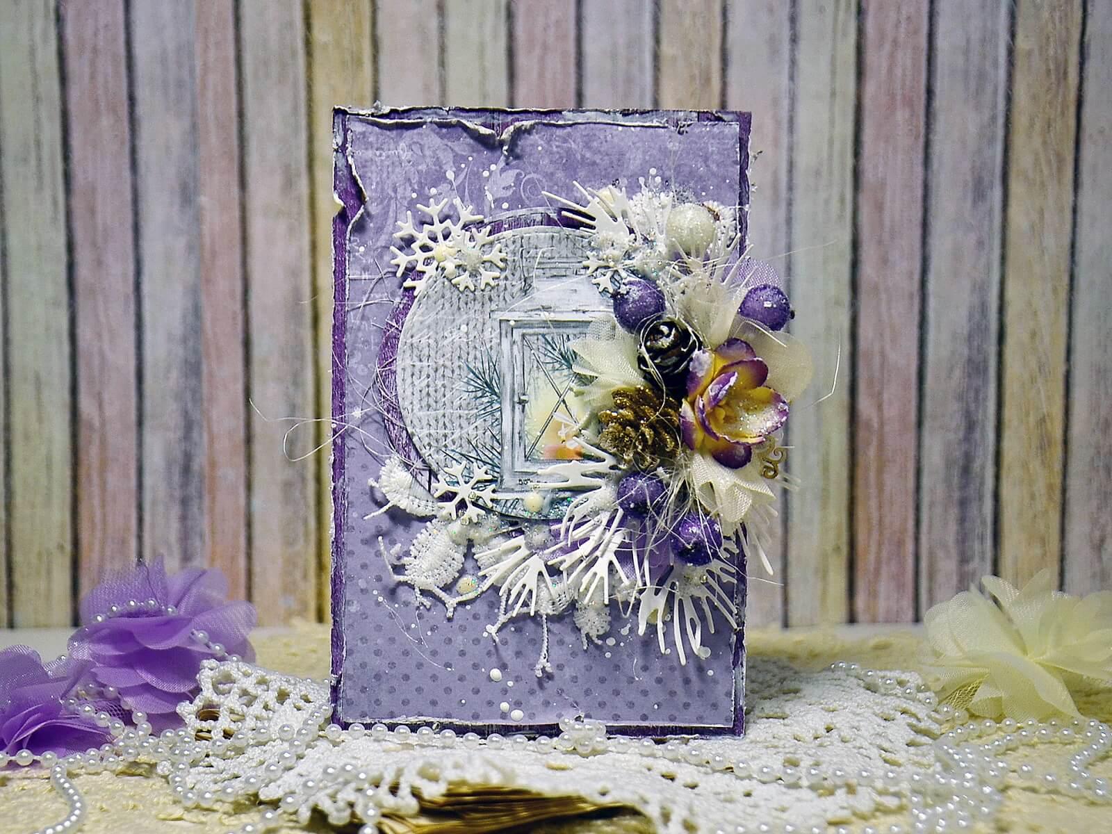 Урок фотошопа по созданию открытки скрапбукинг, годиками открытки