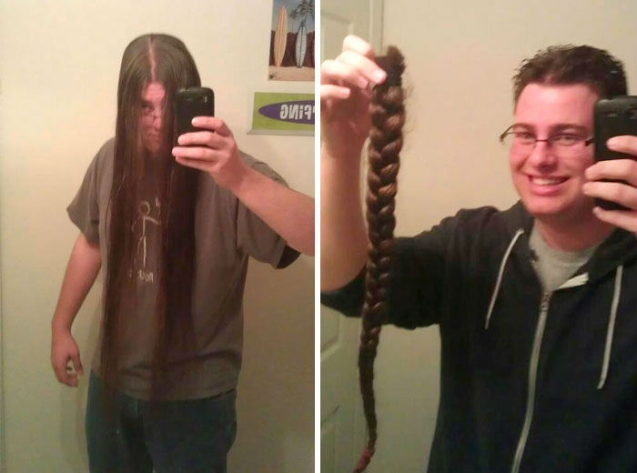 10 2 - 20 фото людей «до и после» того, как они обрезали свои длинные волосы