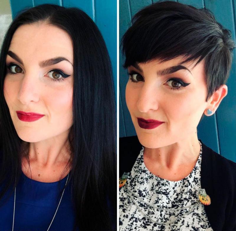 15 extreme haircut transformations that will inspire you to get a haircut yourself11 800x782 - 20 фото людей «до и после» того, как они обрезали свои длинные волосы
