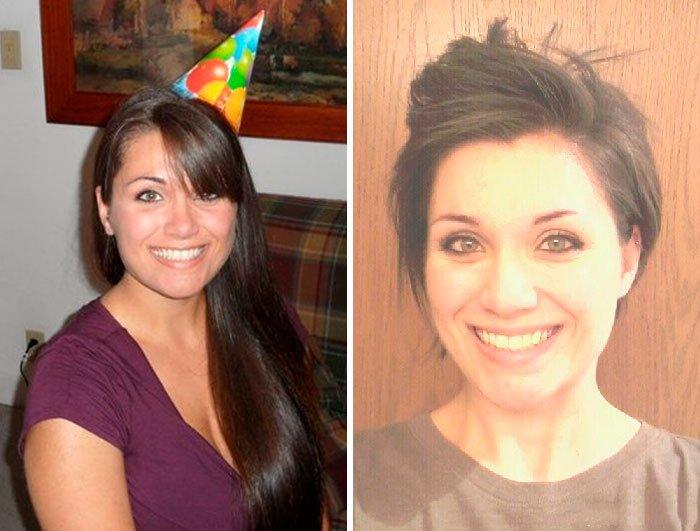 Corte chica - 20 фото людей «до и после» того, как они обрезали свои длинные волосы