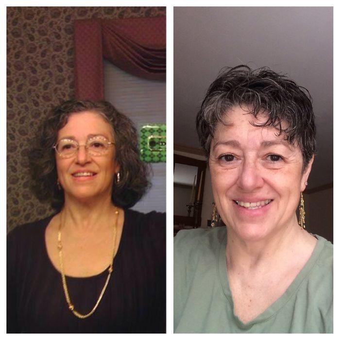 Cortes extremo 7 700x700 - 20 фото людей «до и после» того, как они обрезали свои длинные волосы