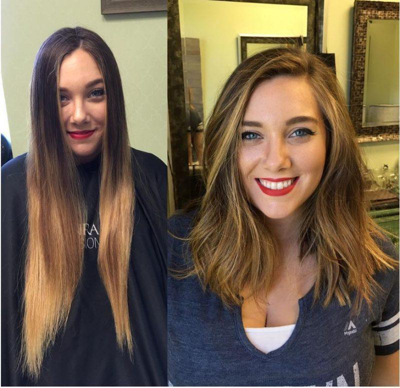 IMG 4815 800x776 - 20 фото людей «до и после» того, как они обрезали свои длинные волосы