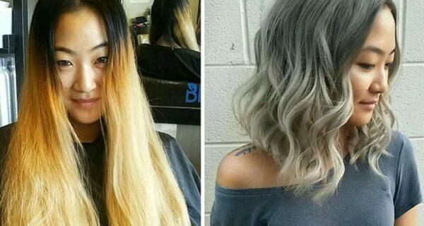 20 фото людей «до и после» того, как они обрезали свои длинные волосы