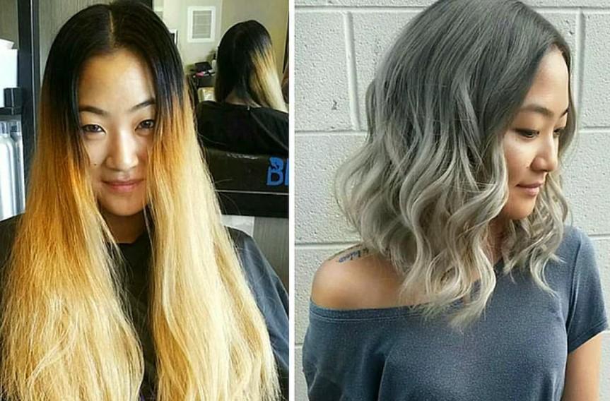 20 фото людей «до и после» того, как они обрезали свои длинные волосы фото