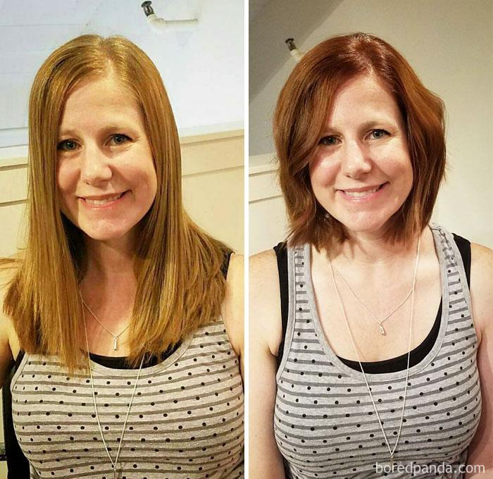 before after extreme haircut transformations 80 596771ed99b19  700 - 20 фото людей «до и после» того, как они обрезали свои длинные волосы