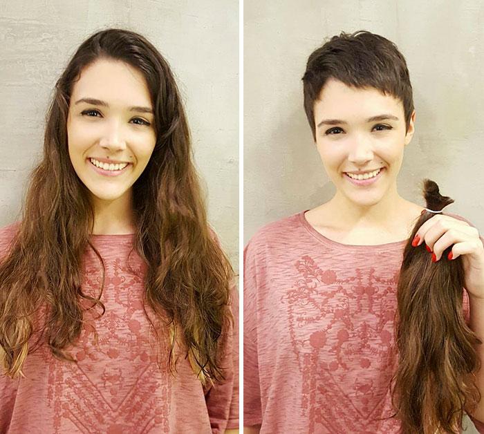 before after extreme haircut transformations user submissions 4 595f9e7913ec1  700 - 20 фото людей «до и после» того, как они обрезали свои длинные волосы