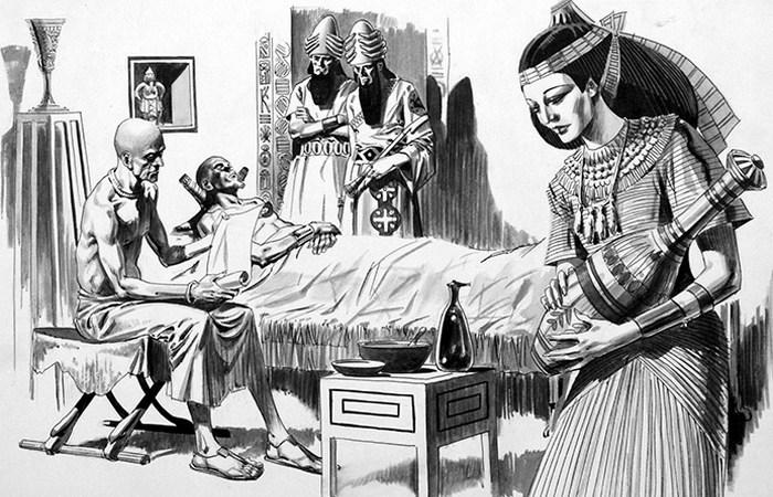 hygiene in egypt 07 - Как в старину лечили венерические болезни: свинцовые гири, кнут и ртутные мази