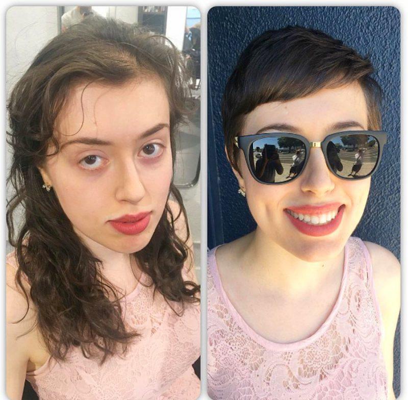 s fc94caf066048568e71351d2a6c3b4efdb793896 800x784 - 20 фото людей «до и после» того, как они обрезали свои длинные волосы