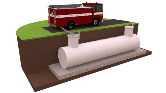 пожарный резервуар