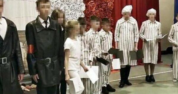 Польские дети разыграли танцевальную сценку из жизни узников Освенцима