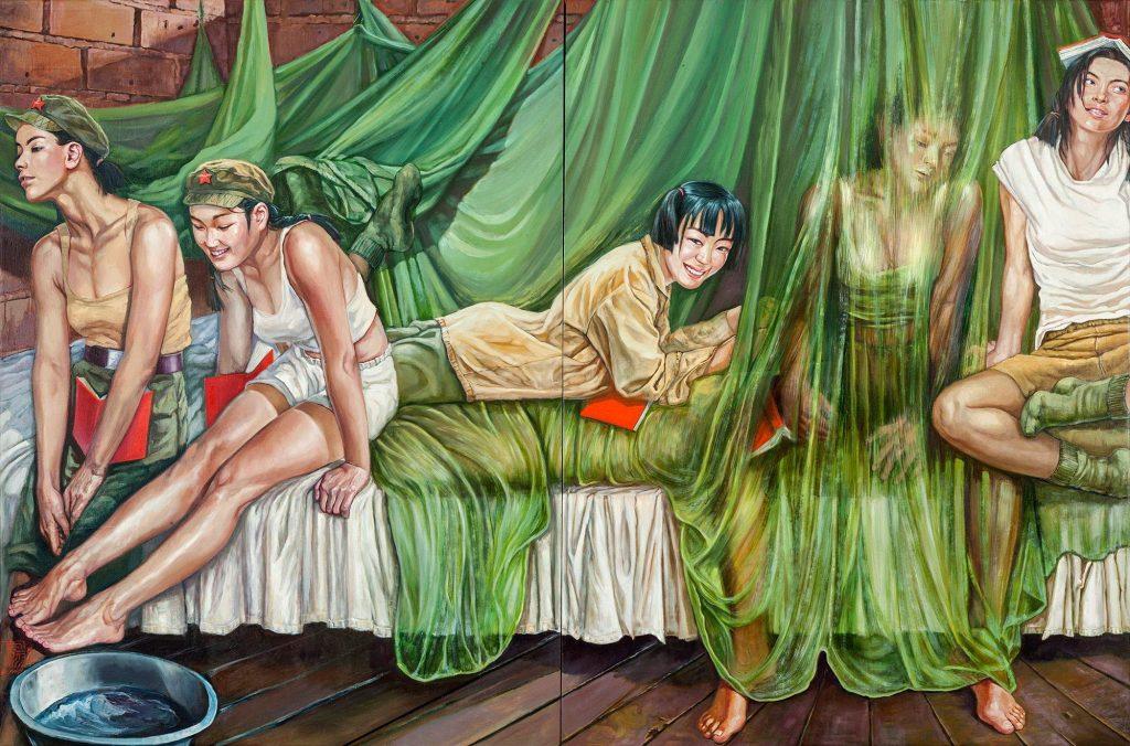 Девушки в армии Китая: сексуальная живопись Ху Минь фото
