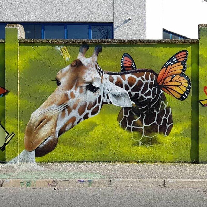Интерактивный стрит-арт: художник вписывает 3D-картины в уличную среду Культура и искусство