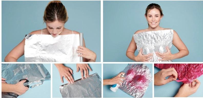 Девушка-конфетка: модель прогулялась по Лондону в пикантном топе из фольги, как у Зендаи