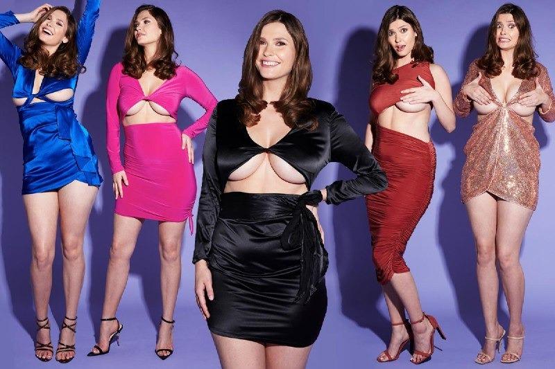 Душа нараспашку: как обычные платья выглядят на пышногрудой модели фото