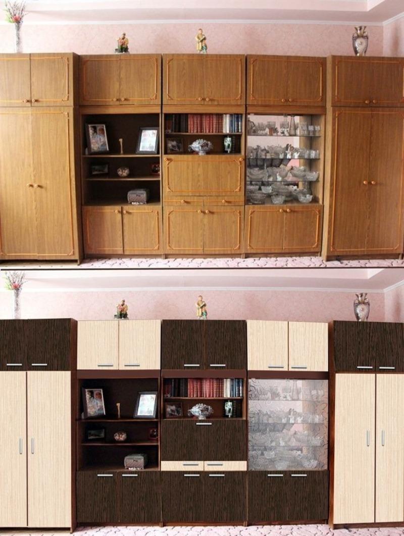 как обновить старую мебельную стенку с фото конце