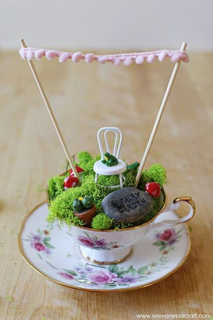 Как сделать сад в чайной чашке: 25 креативных идей