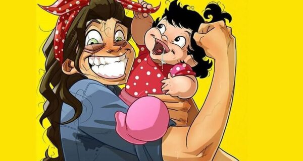 Радости и трудности родительства: художник из Израиля рисует комиксы о жене идочке