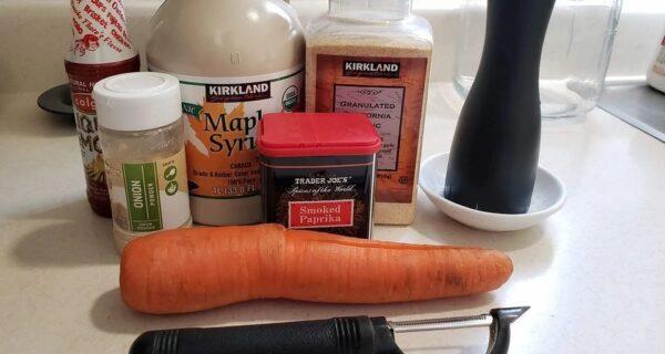 Весело хрустим: видеорецепт бекона из морковки в аэрогриле
