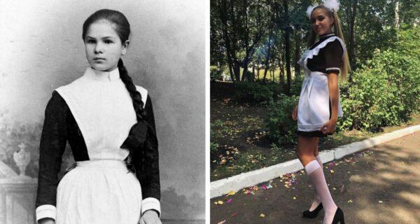 Как выглядели школьницы раньше и сейчас