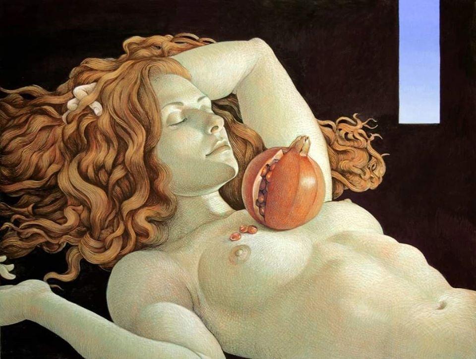 Двойной смысл картин Майкла Бергта: от восточной классики к западному сюрреализму фото