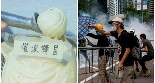 В Гонконге начали продавать мороженое со вкусом слезоточивого газа