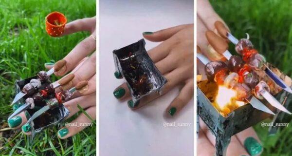 Ногти-шашлычки от креативного российского салона красоты удивили Сеть