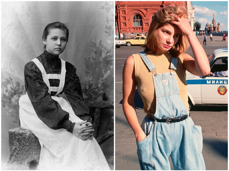 Как менялся внешний вид русских женщин на протяжении 20 столетия фото