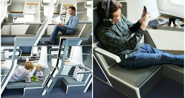 Эконом-класс пассажирских самолетов могут сделать более похожими на плацкартные поезда