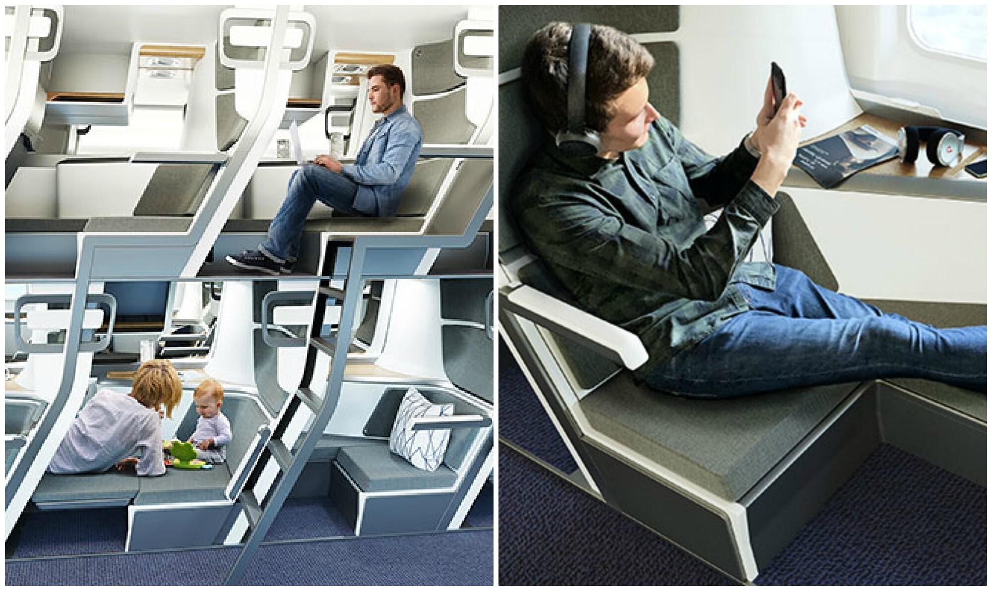 Эконом-класс пассажирских самолетов могут сделать более похожими на плацкартные поезда фото