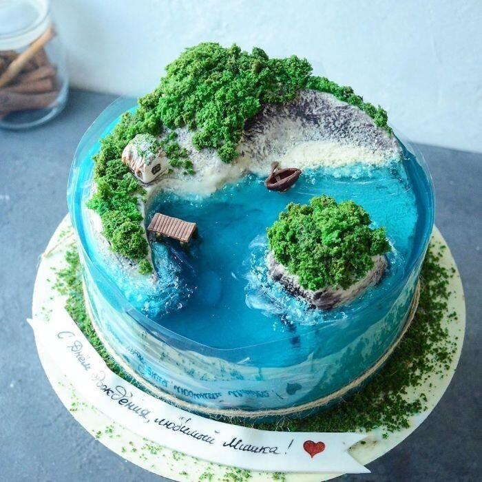 торт-остров фото