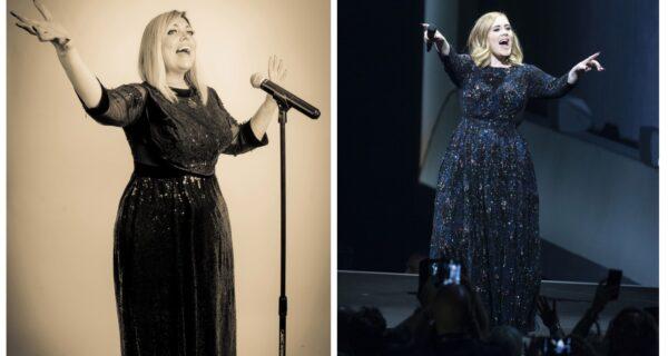 Женщина-двойник певицы Адель сделает дорогую операцию на желудке, чтобы стать похожей на похудевшую звезду