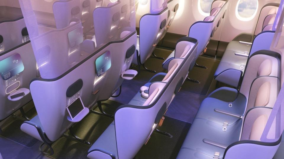 Полеты после пандемии: как будут кабины самолета сновым защитным дизайном