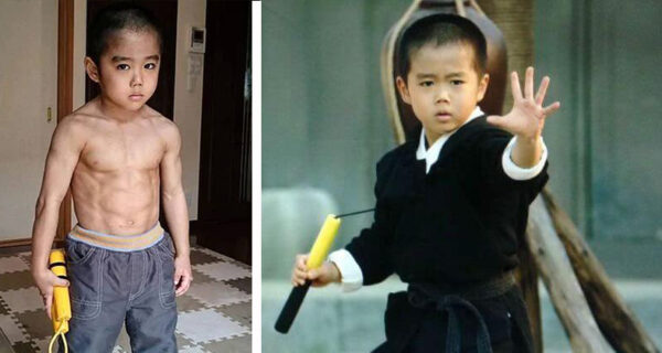 Малыш подражал Брюсу Ли и сам стал легендой кунг-фу