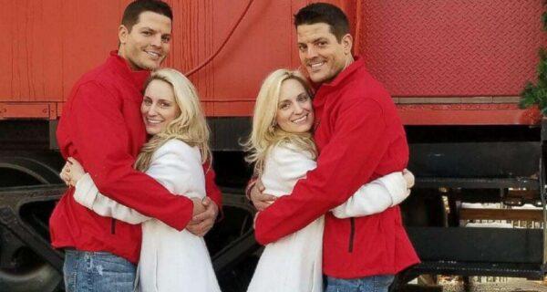2+2=6: две пары близнецов, которые женились между собой, ожидают пополнения в большой семье