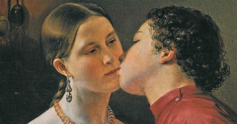 Как на Руси появился обычай целоваться в губы