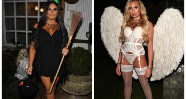 Страшная красота: гламурные участницы британского реалити-шоу нарядились к Хэллоуину