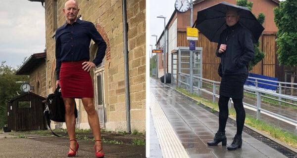 Марк на шпильках: многодетный инженер из Германии обожает юбки и каблуки