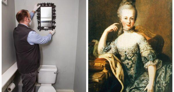 Семья случайно узнала, что зеркало в их туалете когда-то принадлежало Марии Антуанетте