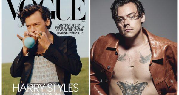 Мужское — женское? Британский певец появился на обложке журнала Vogue в платье