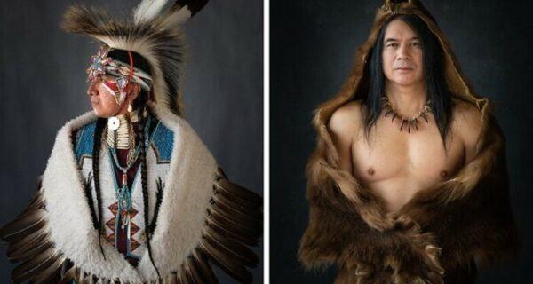 16 невероятных портретов американских индейцев в ритуальных костюмах